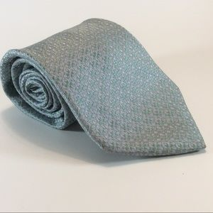 Nordstrom blue & silver men's silk tie 60x3.75
